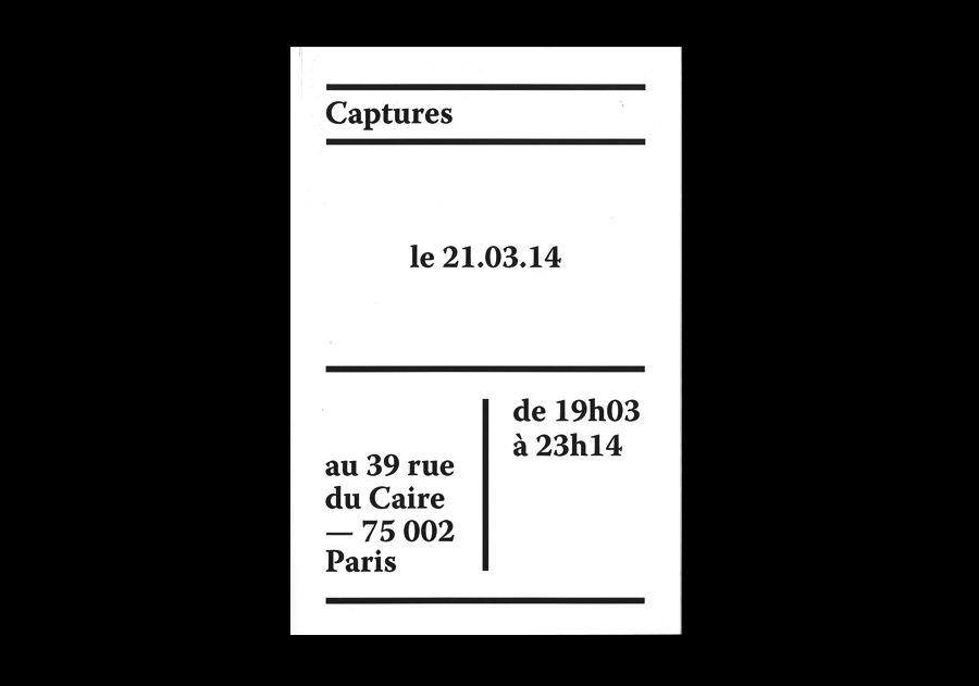 Capture, couverture